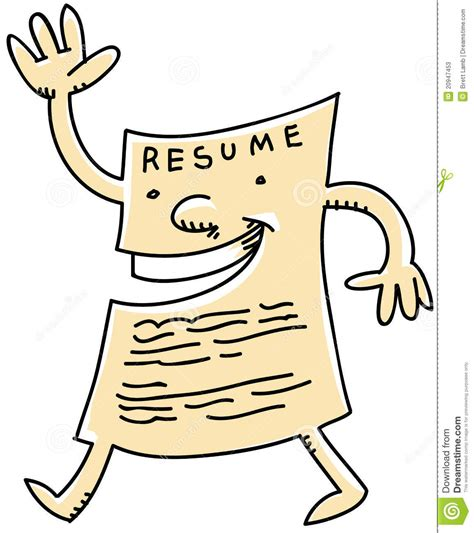 Free Resume Clipart by Resume Stock Illustration Image Of Paper Happy