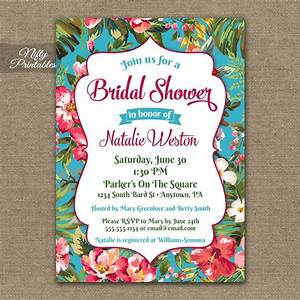 hawaiian bridal shower invitations tropical luau nifty With wedding shower invitations hawaiian theme