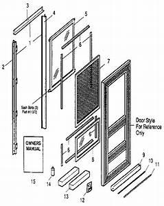 Sears Expander Best Hilite Brown Storm  Screen Door Parts