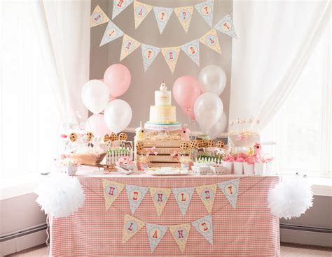 decoration anniversaire 1 an a gorgeous farm 1st birthday anders ruff custom designs llc