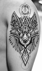 Tatouage Loup Geometrique : tatuajes para hombres increibles dise os geom tricos ~ Melissatoandfro.com Idées de Décoration