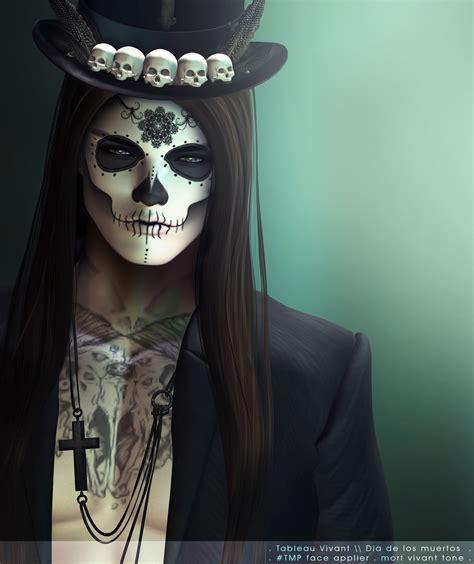 de los muertos makeup man beard google search halloween makeup skull makeup