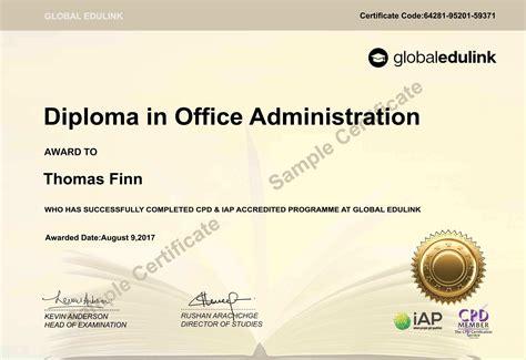 certificate  accredited global edulink