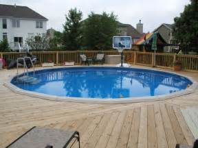 above ground pool decks this above ground pool deck goes al