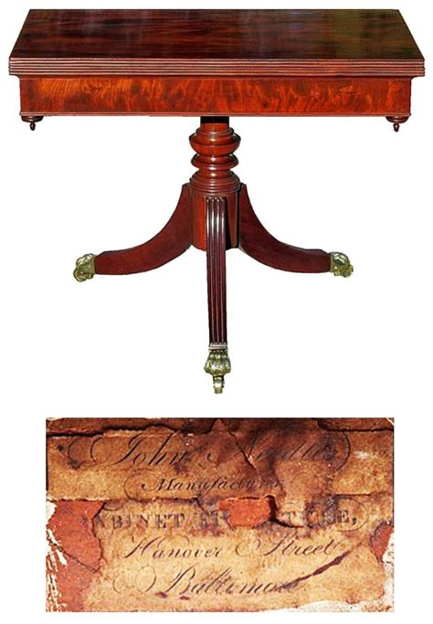 Is the name of two soccer clubs based in baltimore, maryland. A Baltimore Classical Carved Mahogany Card Table, c.1825; bearing the label of John Needles ...