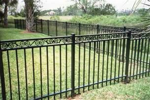 decorative metal garden fencing ideas fence ideas