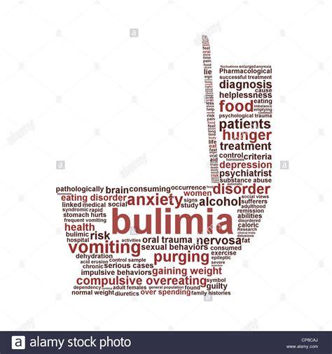 bulimia nervosa symbol isolated  white background stock