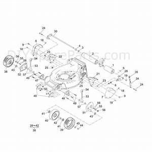 Shanks 553hrs  553hrs  Parts Diagram  Deck  Roller  U0026 Wheels
