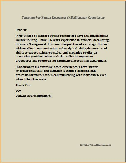 Exle Of Resume Cover Letter by Executive Hr Manger Resume Cover Letter Template Excel