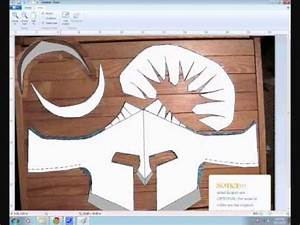 spartan helmet template and how to make it With paper knight helmet template