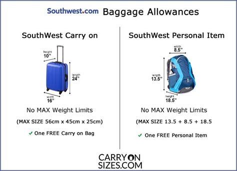 southwest carry  sizes weight fees limits guide