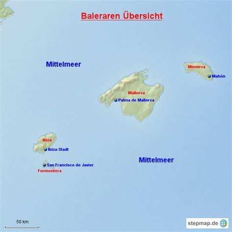 balearen uebersicht von gugelhupf landkarte fuer spanien
