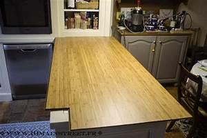 Cuisine phase 32 un plan de travail en parquet bambou for Plan de travail avec lame de parquet