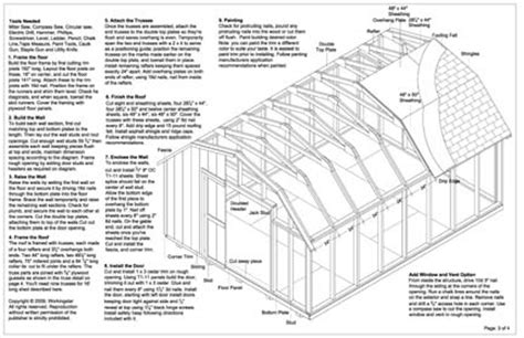 12x16 barn storage shed plans buy it now get it fast ebay
