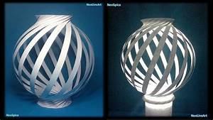 Paper Lamp Ball Twist Spiral 1 - YouTube