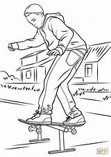 Skateboard Coloring Pages Drawings Printable Park Drawing Skateboarder Skate Colouring Balancing Skateboarding Sketch Getdrawings Template Colorings 1060 1500px 81kb Categories sketch template