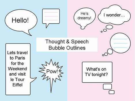 Thought Bubble Powerpoint Template by Thought And Speech Bubbles Clip Art