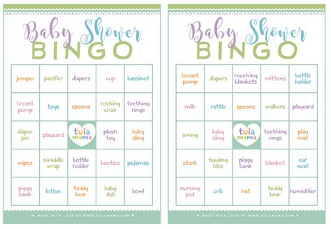 Baby Shower Bingo Free Printable by Baby Shower Bingo A Classic Baby Shower That S