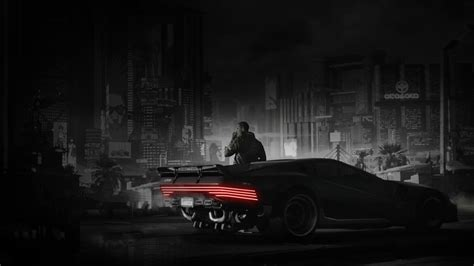 cyberpunk   car quadra  tech   wallpaper
