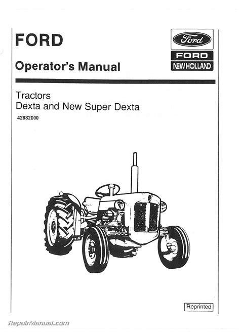 fordson dexta dexta operators manual