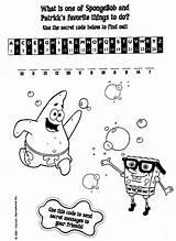 Coloring Code Spongebob Secret Squarepants Pages Game Bob Sponge Pants Square Enjoy Puzzle Ws Fun Template Answer Paper Outpost10f Members sketch template
