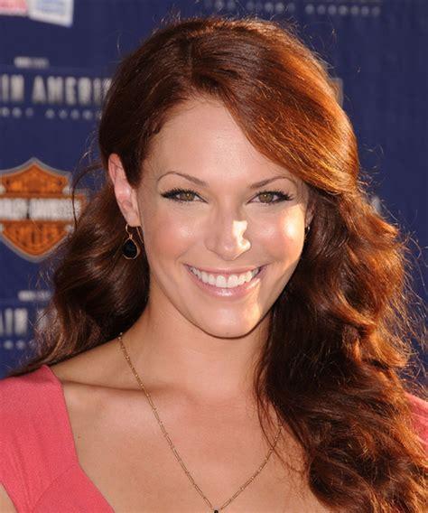 Amanda Righetti Long Wavy Casual Hairstyle Medium Red
