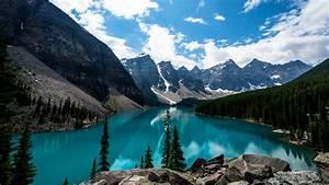 Moraine, Lake, Canada, 4k, Wallpapers