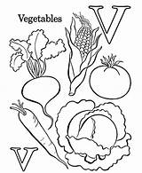 Vegetables Coloring Vegetable Pages Letter Fruits Printable Worksheet Learn Preschool Worksheets Print Sheets Food Kindergarten Alphabet Number Farm Basket Worksheeto sketch template