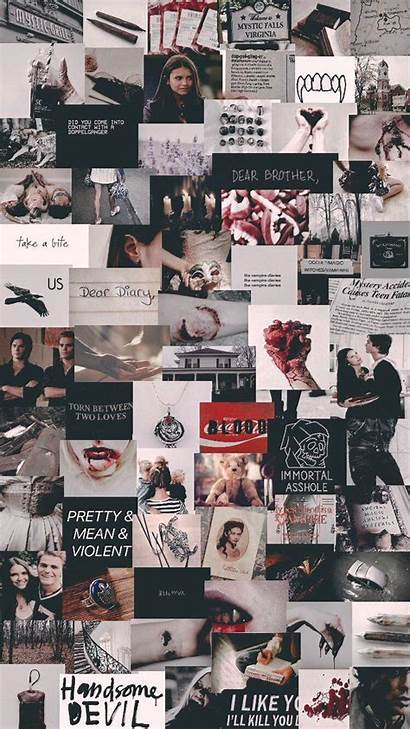 Diaries Vampire Aesthetic Wallpapers Collage Iphone Tvd