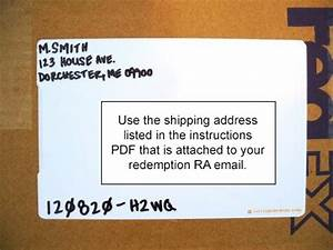 redemption packaging instructions safedinarcom With how to label a package to ship