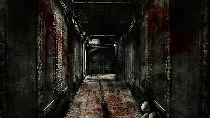 Horror Scary Backgrounds Hallway