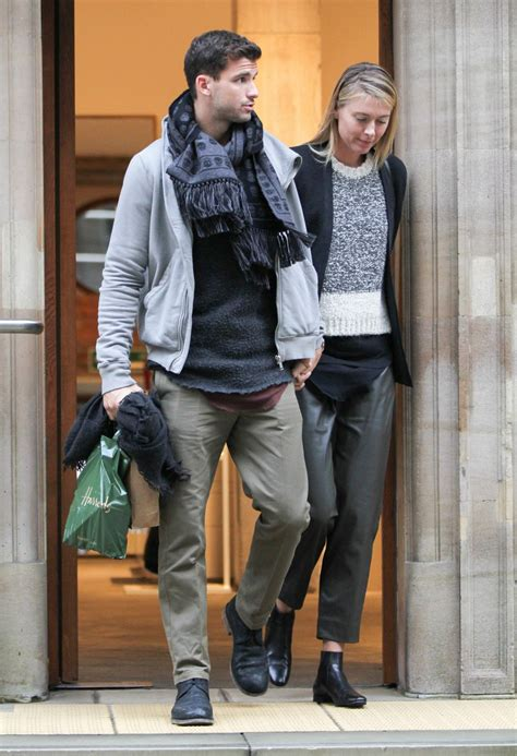 maria sharapova  boyfriend shopping  dover street market  london november