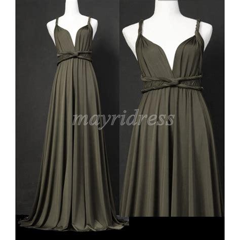dark gray full length infinity dress wrap convertible
