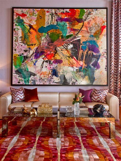 la peinture abstraite dans linterieur contemporain