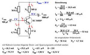 Emitterschaltung Berechnen : kleinleistungsverst rker mit transistoren in emitterschaltung ~ Themetempest.com Abrechnung