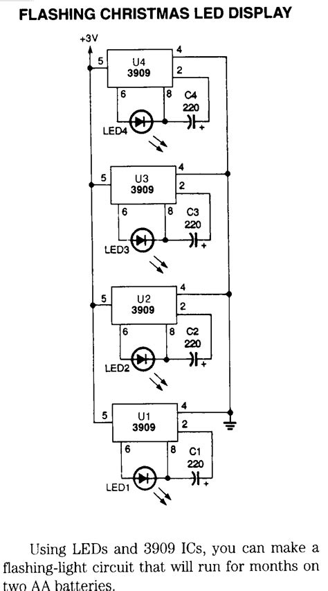 Light Wiring Diagram by Led Schematics Wiring Diagram Circuits Schema Electronic