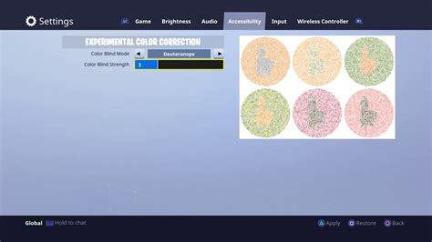 mode color fortnite colorblind mode tutorial