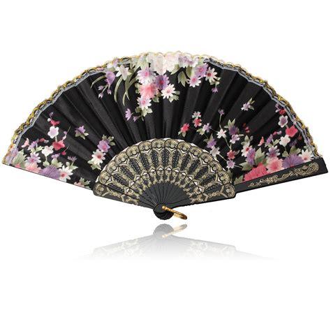 japanese silk hand fans japanese silk bamboo flower folding hand fan pocket