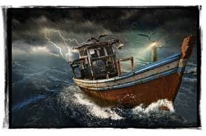 Storm Fishing Boat