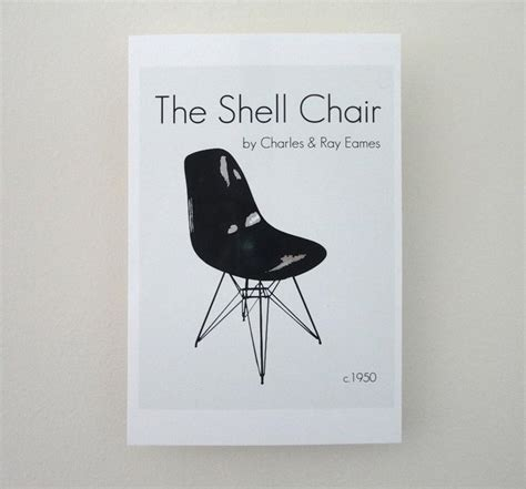 The Shell Chair Print Ray and Charles Eames Print Chair | Etsy