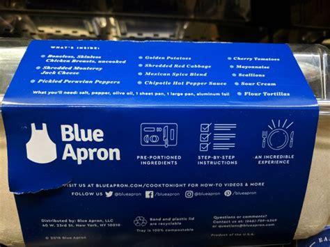 blue apron meal kit southwestern chicken tacos