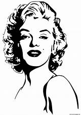Coloring Celebrity Monroe Marilyn Pages Printable Print sketch template