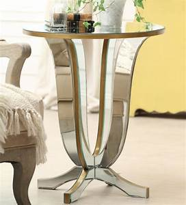 Glass side tables for living room with gold painted table for Side table designs for living room
