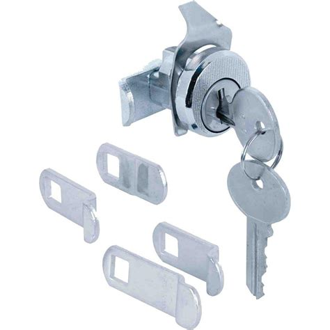 cabinet locks home depot prime line 7 8 in chrome drawer and cabinet keyed cam