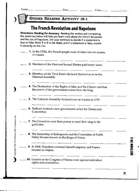 worksheets scientific revolution worksheet opossumsoft