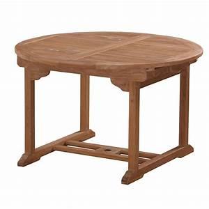 Table Ronde En Teck : table de jardin ronde rallonge en teck huil 120 60 ~ Teatrodelosmanantiales.com Idées de Décoration