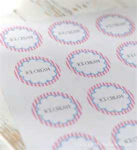 Lemonade Stand Cups by Free Printable Ice Cream Cup Stickers Katarina S Paperie