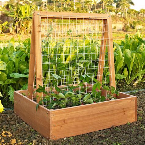 how to build planters for vegetables coral coast wood garden planter trellis trellises at