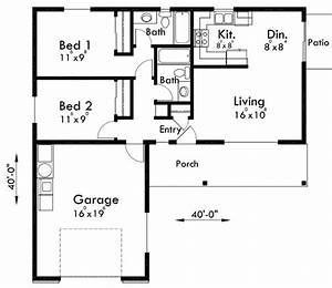 2 bedroom 1 bath house plans lovely adu small house plan 2 With 2 bedroom and 2 bathroom house plans