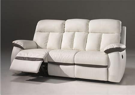 canape cuir electrique 3 places canapé 2 places 3 places relax électrique en cuir blanc